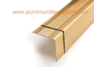 Decorative Aluminum Stair Nosing Edge Trim Right Angle 3cm X 3cm Easy Installation