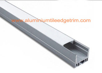 White Silver Aluminum Square Tubing , Extruded Aluminum Led Profile Housing