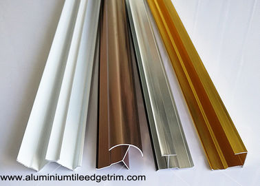 Anodized Aluminium Tile Edge Trim / Cladding Trim For Integrated Wallboard