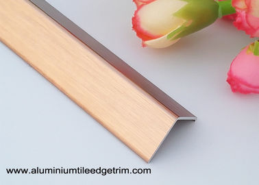 Brushed Anodized Rose Gold Aluminum Corner Guards With 1.5mm Thickness